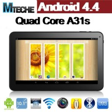 10.1inch Android tablet PC Quad core tablet with WIFI 1G 16GB , Android 4.4 tablet pc