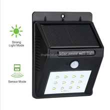 IP65 Waterproof 12 Led Wireless Outdoor Motion Sensor Wall Light Solar Mounted Led Garden Wall Lamp