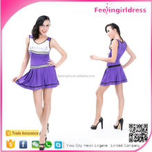 Purple Women Fashion Sexy Football Costumes