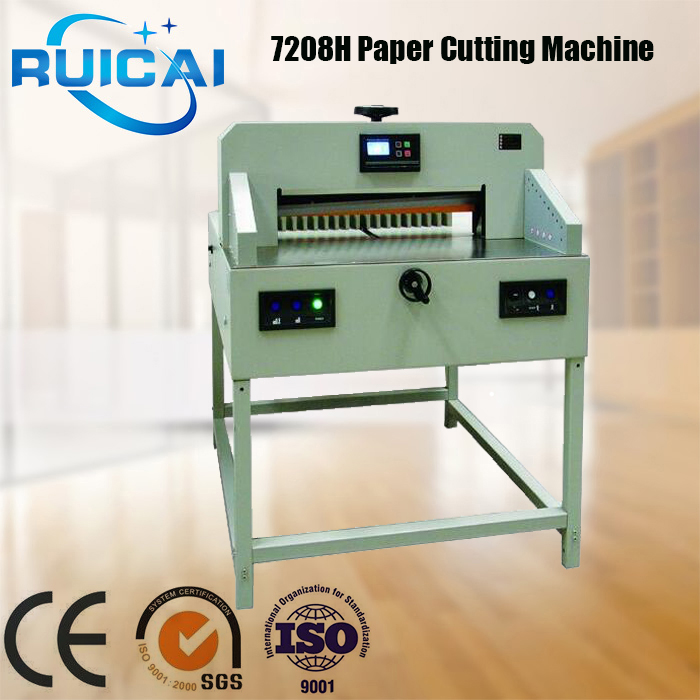 7208H Programmable Paper Guillotine Cutter Cutting Machine + CE,Heavy Duty