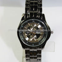 Mens Alloy Black Automatic Wrist Band