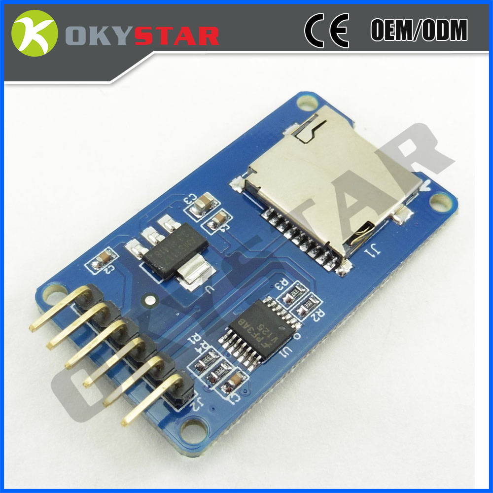 Micro SD Card Reader driver Module Holder Board Interface for