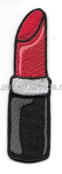 Red Black Lipstick Cosmetic Embroidery Patch