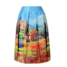Latest Fashion Design High Waisted Girl Ruffle Skirt Sublimation Printed A Line Woman Clothing Broadcloth Fabric Skirt For Lady