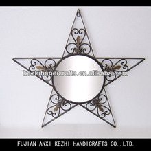unique wall hanging star shape mirror