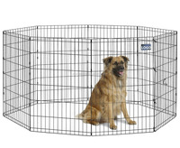 Popular Foldable Metal Exercise Pen / Pet Playpen Welded Wire Dog Kennel