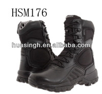 JY,slip and abrasion resistant anti-tear nylon+leather upper military boots with BATES brand