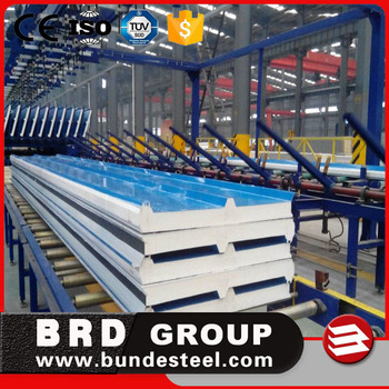 PU polyurethane insulated sandwich panel used sandwich panel