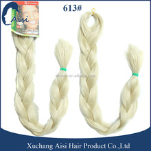 High quality X-Pression braiding hair extension 613# yaki jumbo braid 100 synthetic braiding hair