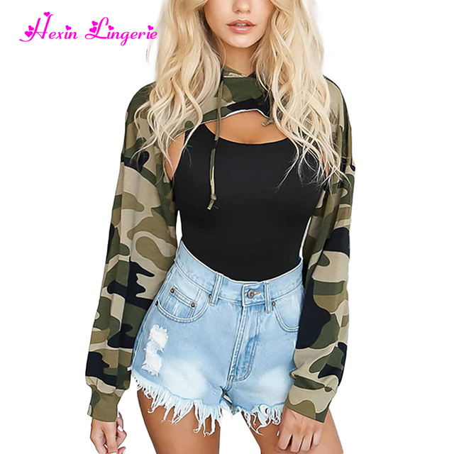 Factory Price Army green camouflage simple new fashion design blouse women top