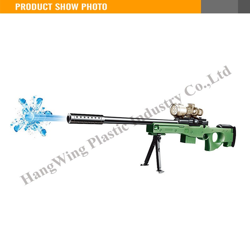 72cm green or yelllow with 5 soft bullet water gun toy