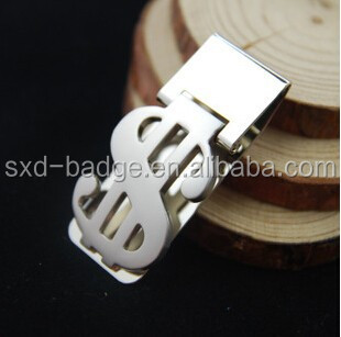 Exquisite fashion metal money clip blank,dollar shaped money clip for promotion and collection