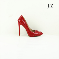OP23 Wholesale Women Sexy Pointy Toe Red High Heel Dress Shoes