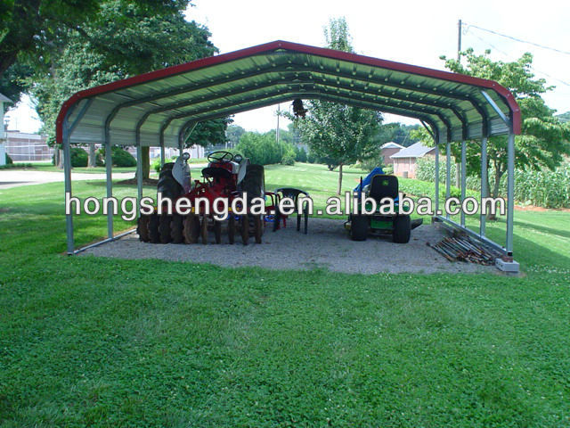 prefabricated china cheap metal steel carports garages canopy