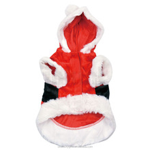 1Cotton Material Suitable for Spring / Early Autumn Classic Christmas Santa Claus Dog Clothes