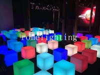50CM Rome rotomolding light-emitting furniture wedding decoration bar led stool