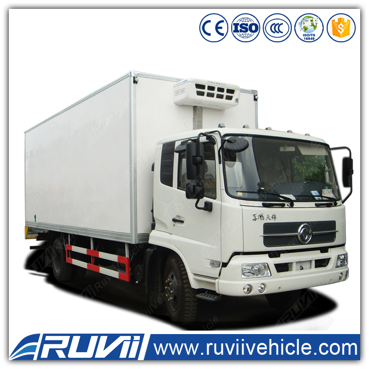 2016 latest Euro 4 Emission Standard Refrigerator truck 4x2 Forland refrigerator truck with manual transmission for sale
