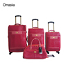Fashionable PVC Leather Material Hot Sale Design Spinner Wheel Soft Fabric Lining Trolley Luggage Bags