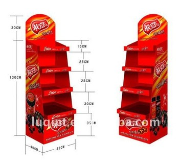 drinks rack display shelf /supermarket food display rack professional manufacturer from shenzhen China
