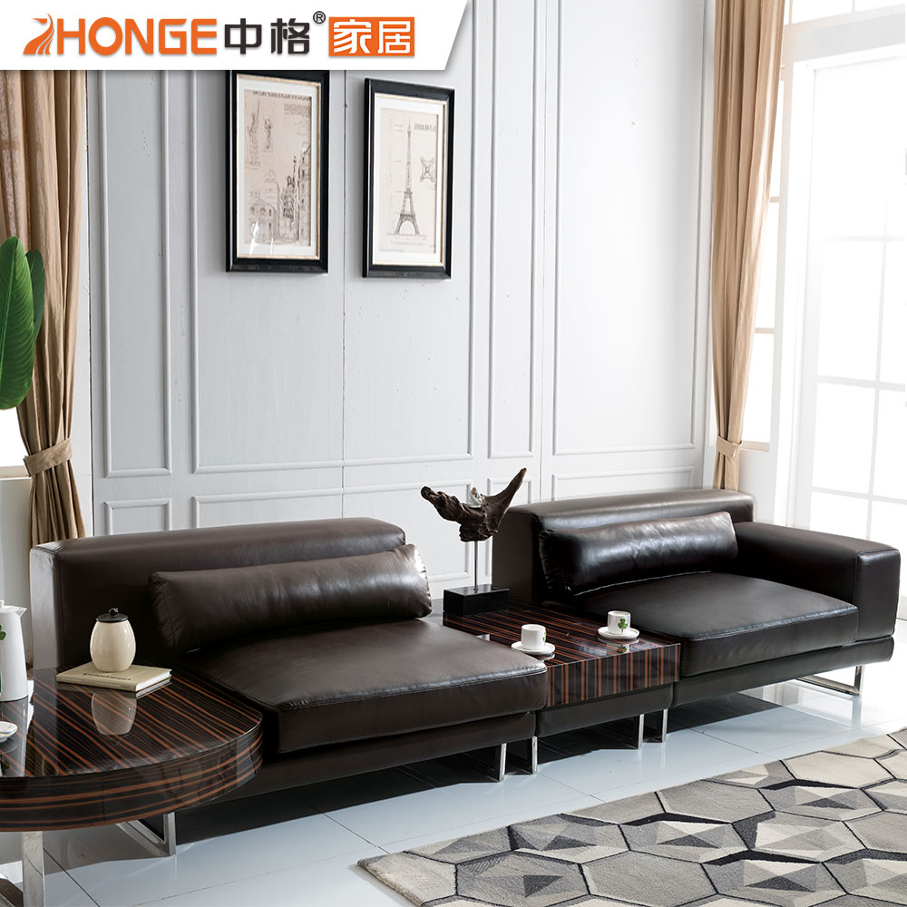 modern new design corner italy modern genuine leather sofa with stainless steel legs
