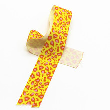 Custom Cheap Fashion leopard printed Grosgrain Ribbon for Gift Package