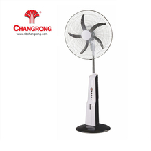 hish speed solar powered rechargeable standing fan with led light