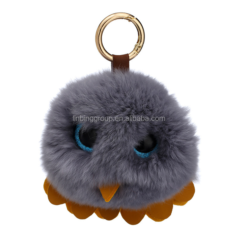 Big eyes Fashion China Owl ornament doll keychain car charm ornament