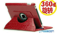 Factory price Croco Pu Leather Crocodile lines Pu Leather Case For ipad 2 ipad mini iPad 3