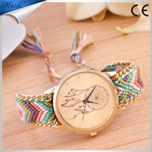 Dreamcatcher Friendship Bracelet Watch Ladies Fashion Colorful Braid Dressing Weave Geneva Watches GW074