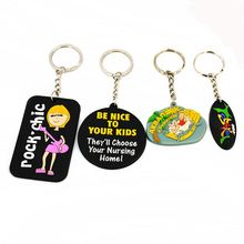 Factory Sale trendy style cheap soft key chain with different colors