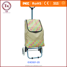 Vegetable shopping trolley bag with wheels