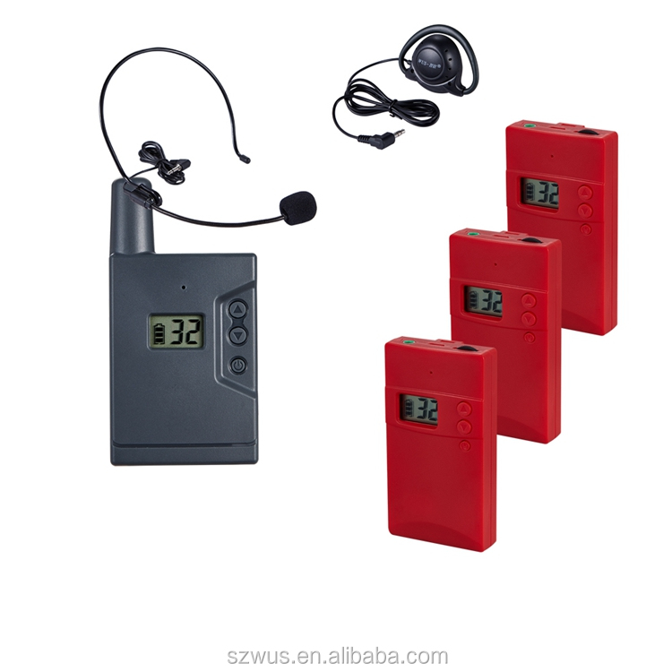 Digital Wireless Audio Tour Guide System ZLWUS938U, China factory supply tour guide drectly