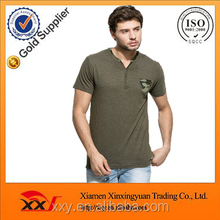 Olive color blank camo chest pocket cheap wholesale mens blank tshirts online shopping india