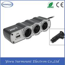 Factory Price 220V 3 Ports Car Cigarette Lighter Socket Car Adapter Plug