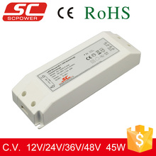 SC LED driver 12V 45W dimmable led power driver for 0/1-10v pwm dimming with waterproof to ip67