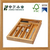 Shabby chic China supplier natural bamboo unfinished Kitchen Utensil Storage Tray Cutlery Organizer