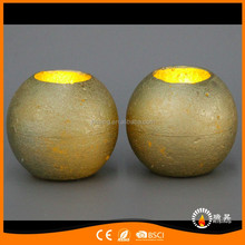 craft flickering led candle battery operated paraffin wax rough looking round ball