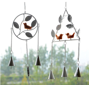 birds metal iron wind chimes ornaments home decorations girls birthday gift