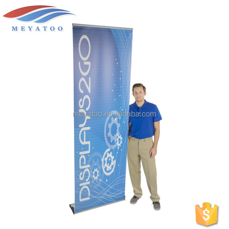 Advertising Wide Screen Custom Printing Roll Up Horizonta Banner Design Pull Up Banner Stand