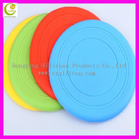 China Dongguan Manufacturer Bright Color Change Reasonable Factory Competitive Price New Arrive Silicone Rubber Frisbee For Dogs