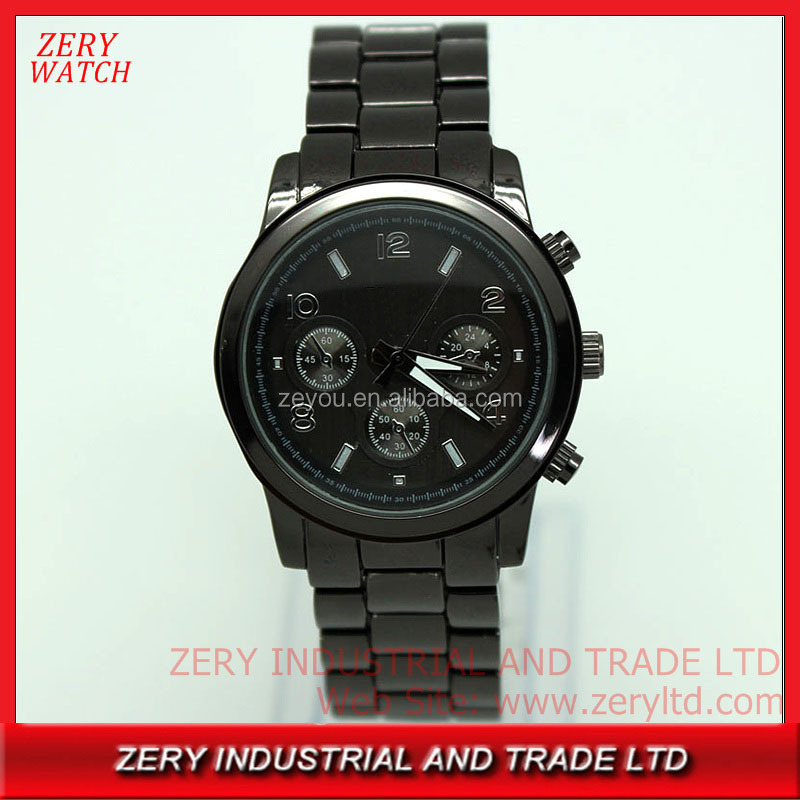 R0475 Custom your own design mens watch, water resistant stainless steel back watch