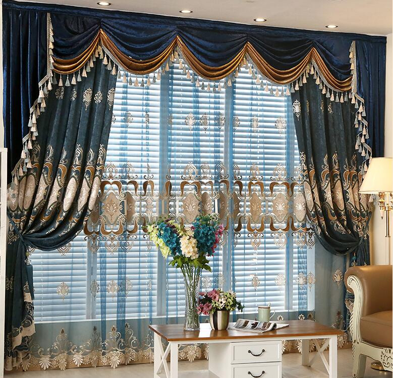 wholesale motorized system embroidered curtains and drapes sheer