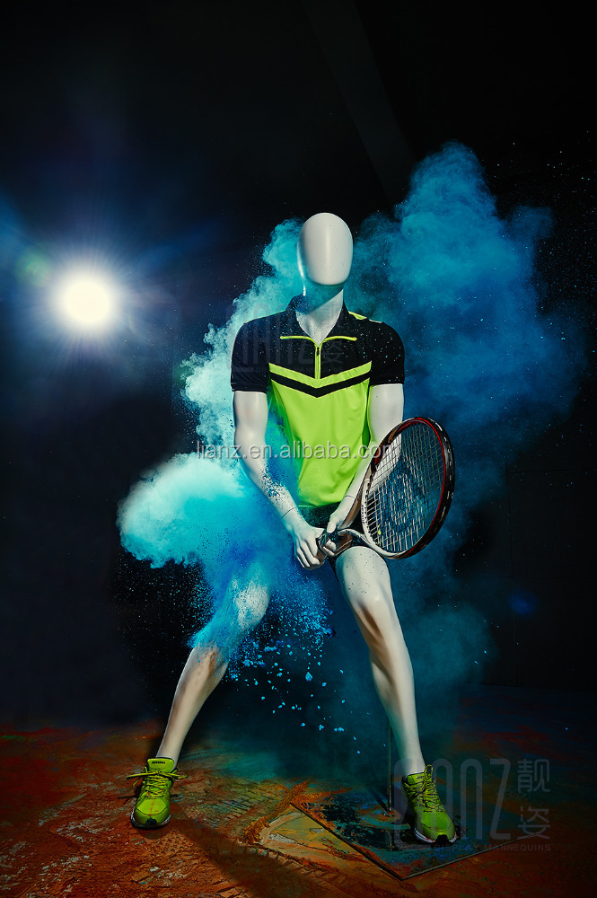 playing tennis male sport manequins for sale