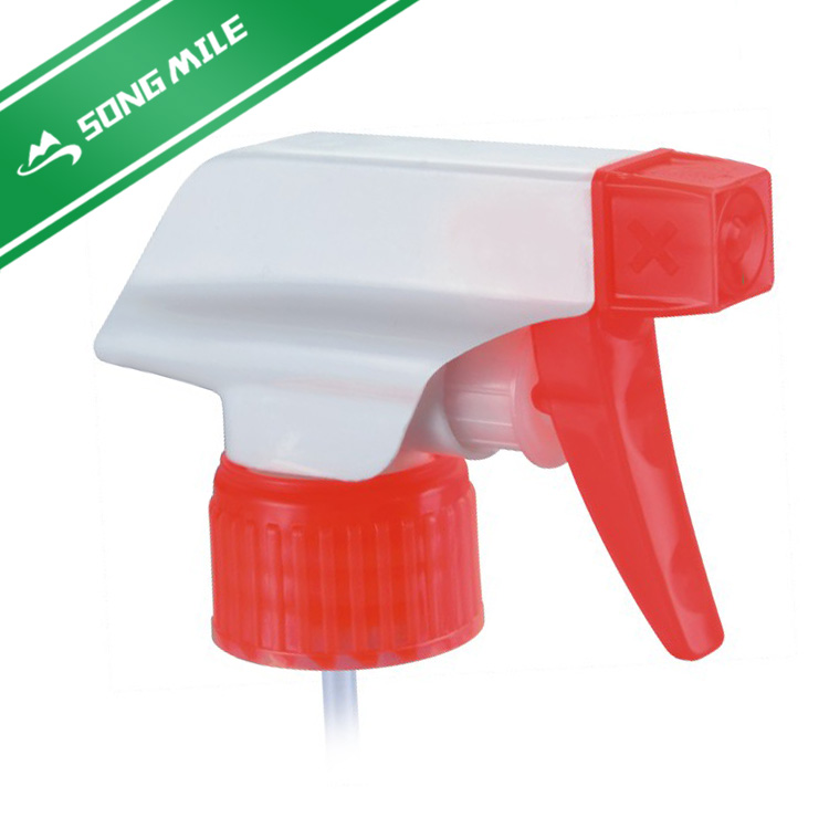 Plastic trigger sprayer head foam nozzle