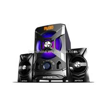 High quality cheep wireless2.1 speaker home theatre with usb mic