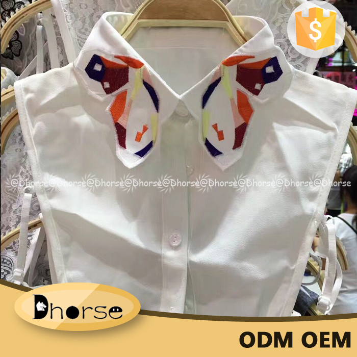 Fashion butterfly design latest design of half shirt DHD1708