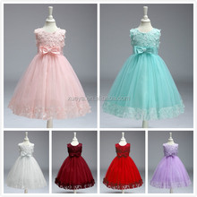 Kids Princess lace wedding party latest dress patterns for girls