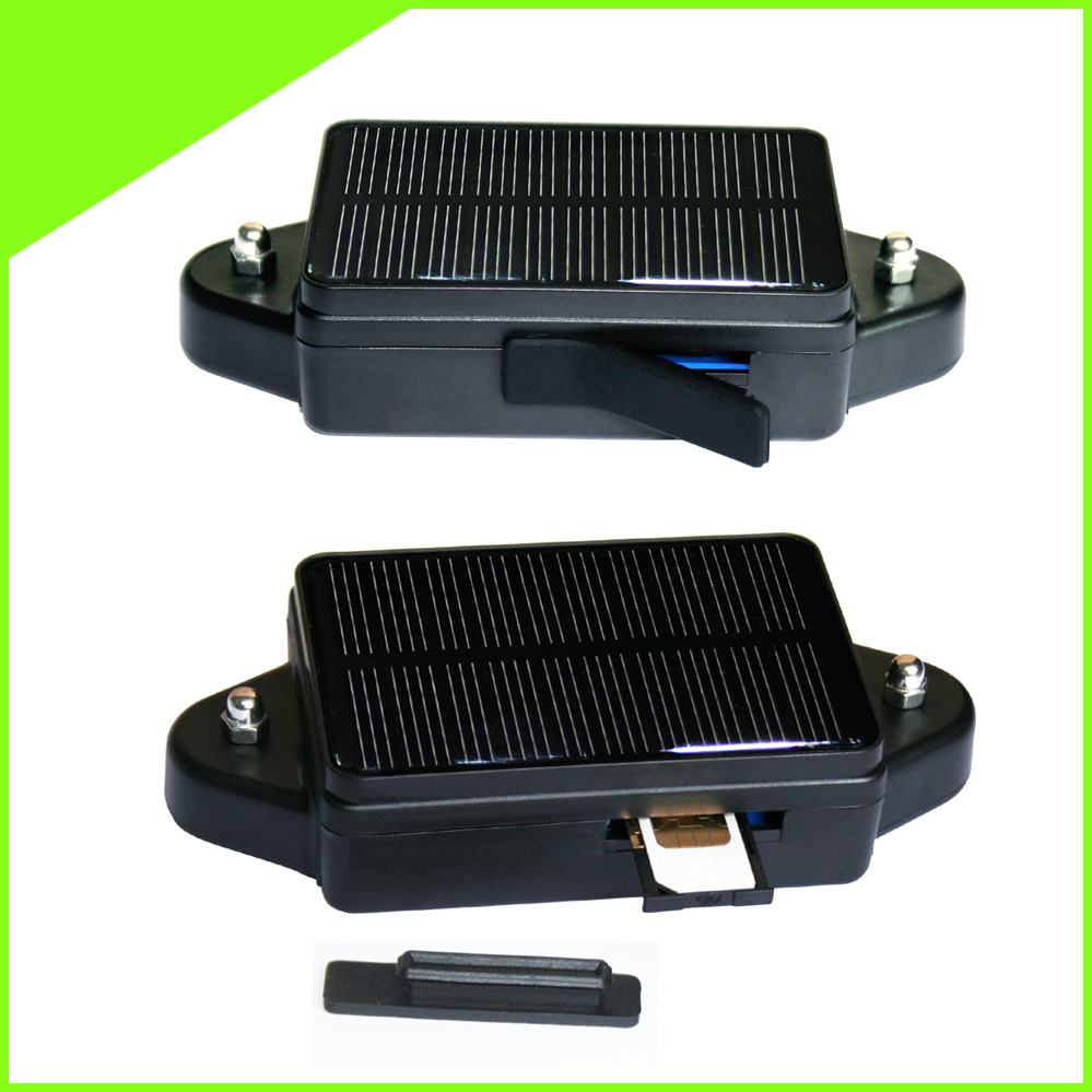 Vehicle tracking system Solar Powered GPS tracking with Shock sensor