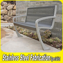 Keenhai OEM Stainless Steel Outdoor Metal Park Bench