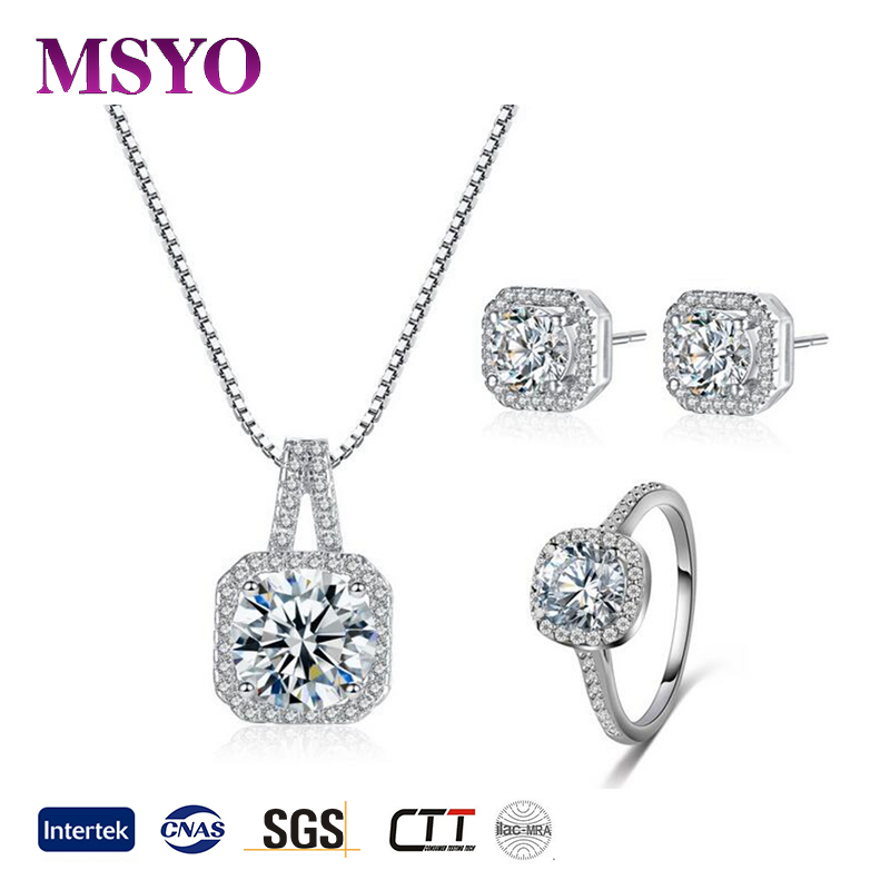 MSYO brand 2017 fashion african jewelry set diamond bridal jewelry set